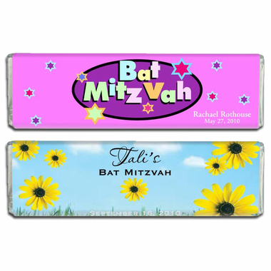 Batmitzvah Candy Bar Favors