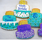 Birthday Cake Cookie Favor