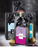 Black Favor Bags Personalized