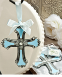 Blue Christmas Ornaments Cross