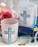 Blue Cross Candle Favor