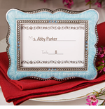 Blue Place Cards Photo Frames