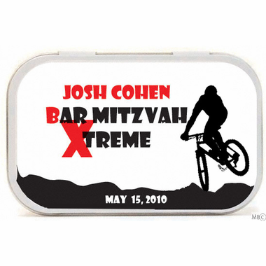 BMX Party Favors Mint Tins