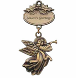 Brass Christmas Ornaments with Angel