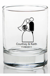 Bride and Groom Wedding Favors Shot Glasses