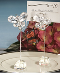 Butterfly Decorations Crystal  Place Card Holders