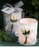 Calla Lily Decorations Candle for Centerpieces