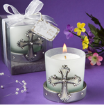 Candles with Crosses Favors