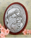 Catholic Baptism Favors Madonna & Child Plaque