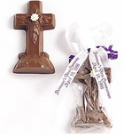 Chocolate Communion Favors - Chocolate Cross