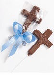 Chocolate Communion Favors Cross Pop