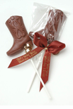 Chocolate Cowboy Boot Western Favors