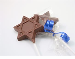 Chocolate Mitzvah Favors - Star of David Pop