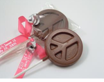 Chocolate Peace Sign Lollipop