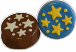 Chocolate Star Cookies - Oreos