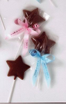 Chocolate Star Lollipop Favor