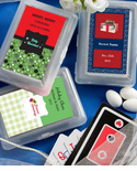 Christmas Playing Cards - Personalized Label
