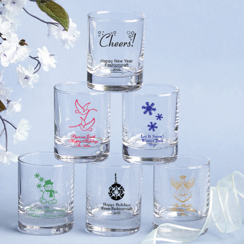 Christmas shot glasses personalized - Christmas favors for adults ...