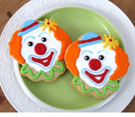 Clown Cookies Favors for Birthday Circus Party