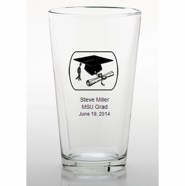 College Graduation Favors Personalized Pint Glass