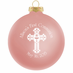 Communion Ornaments for a Girl - Glass Pink Favors