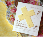 Communion Plantable Cross Favors Card