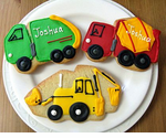 Construction Trucks Cookies