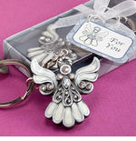 Cross & Angel Keychains
