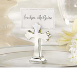 Cross Place Card Holders Silver - Set of 6 CLOSEOUT SALE