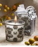 Damask Design Votive Candle