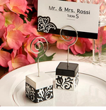 Damask Favor - Wedding Place Card Holder