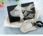 Destination Wedding Silver Plane Luggage Tag