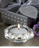 Diamond Favor Glass Candle Holders