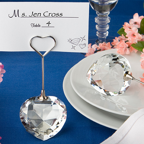 Cheap Wedding Gift Card Holders : Diamond Place Card Holders, Diamond Place Card Holder