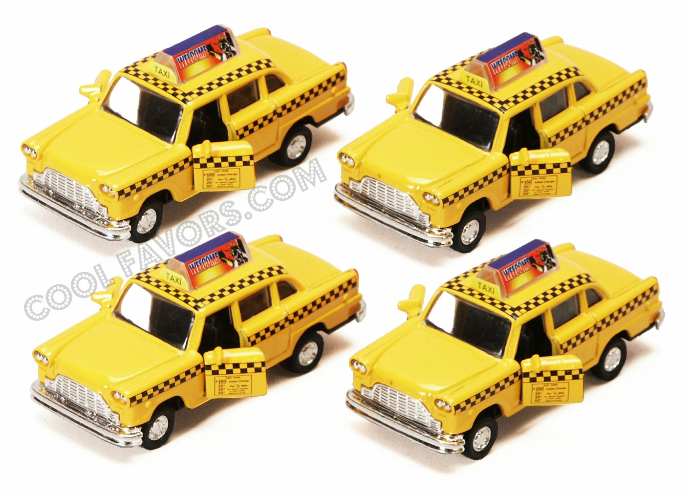 Diecast Ny Taxi Cabs Set Of 12