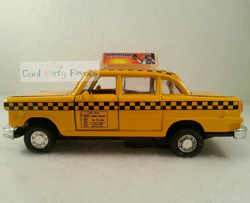 Ny Taxi Cab Place Card Holders Diecast Taxi Car