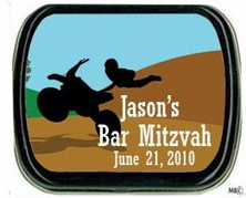 Dirt Bike Party Favors Mint Tins