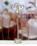 Double Hearts Wedding Theme Place Card Holder