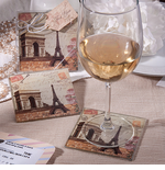 Eiffel Tower Gifts Paris  Coasters