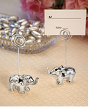 Elegant Silver Elephant Placecard Holders