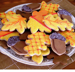 Fall Leaves Cookie Wedding Favors