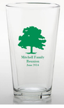 Family Reunion Tree Pint Glasses