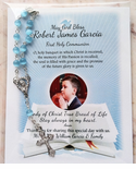 First Communion Souvenirs Rosary Cards - Photo