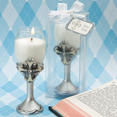First Holy Communion Goblet Candle