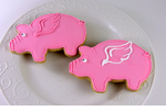 Flying Pig Cookies Favors