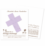 Funeral Cards Cross Memorial Keepsake