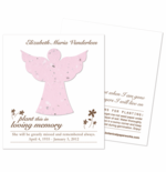 Funeral Memorial Cards Remembrance Gift