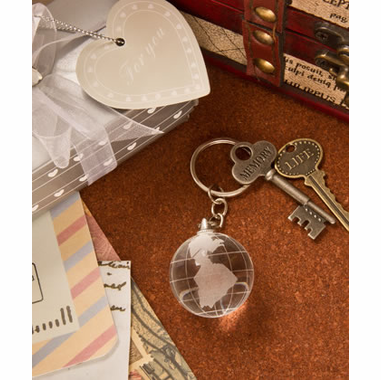 Glass Globe Keychain - The World is Yours