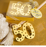 Golden Anniversary Bookmark Favors