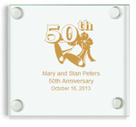 Golden Anniversary Favors Coasters
